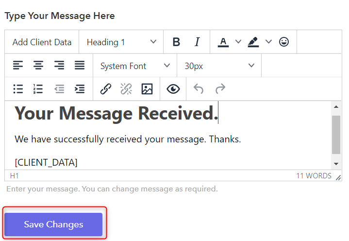 Customizing The Confirmation Email - Pabbly Form Builder