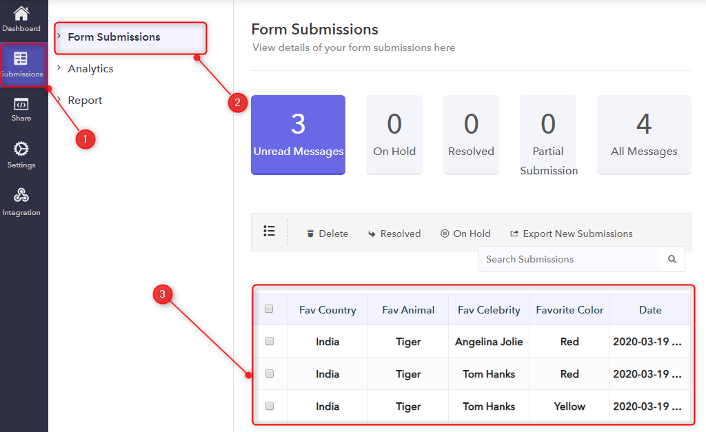 Check Individual Responses - Pabbly Form Builder