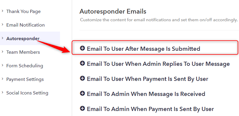 Open Email To User After Message Is Submitted - Pabbly Form Builder