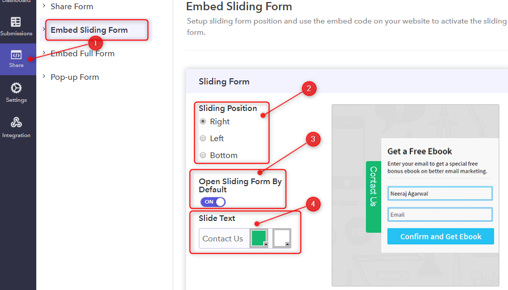 In Case Of Embedding A Sliding Form On Webpage - Pabbly Form Builder