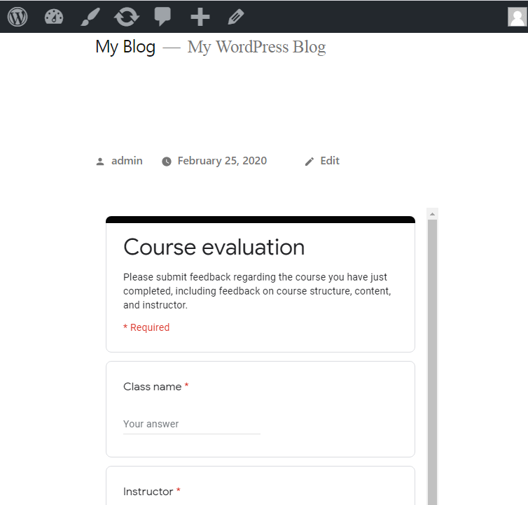 Save & Preview - Google Forms