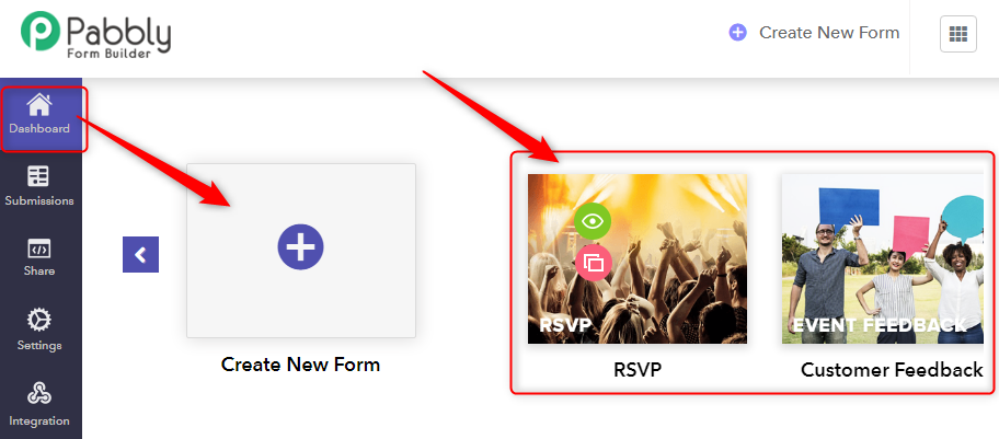 Create A New Form - Pabbly Form Builder