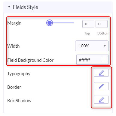 Tailoring Field Style - Pabbly Form Builder