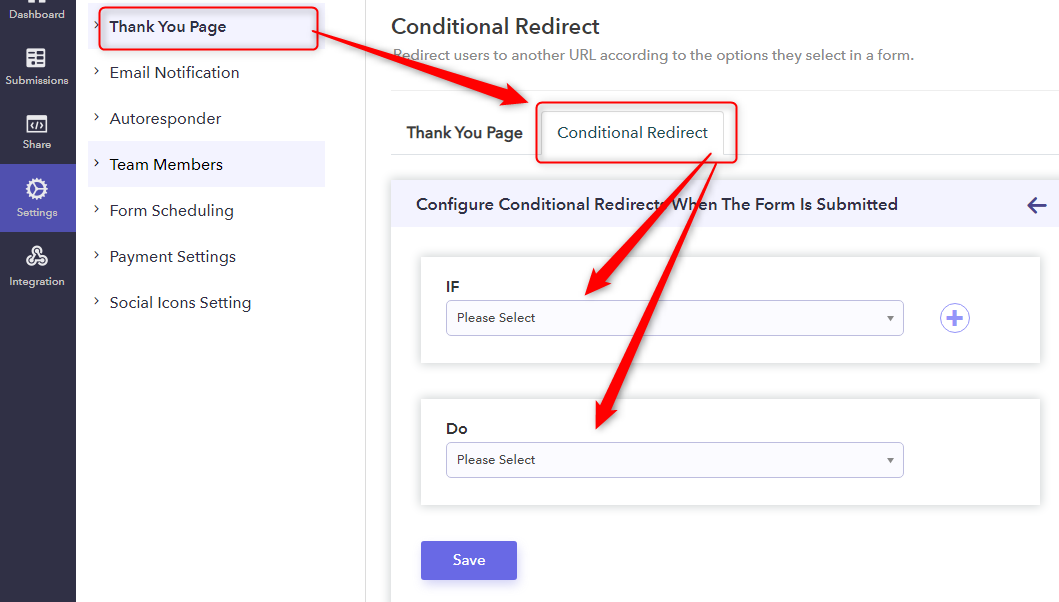 Set Conditional Redirect In Confirmation Messages And Customize It - Pabbly Form Builder