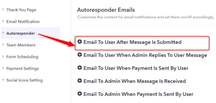 Pick From Autoresponder Emails - Pabbly Form Builder