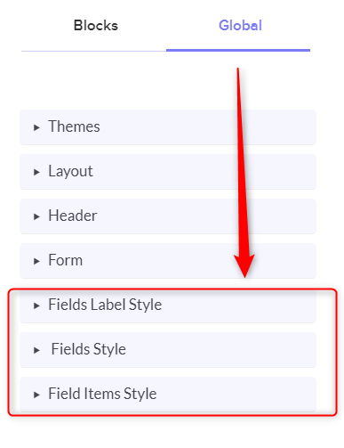 Click On Fields Style - Pabbly Form Builder