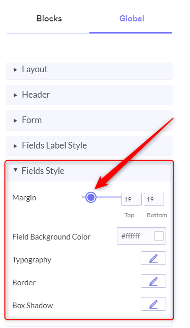 Set The Margin - Pabbly Form Builder