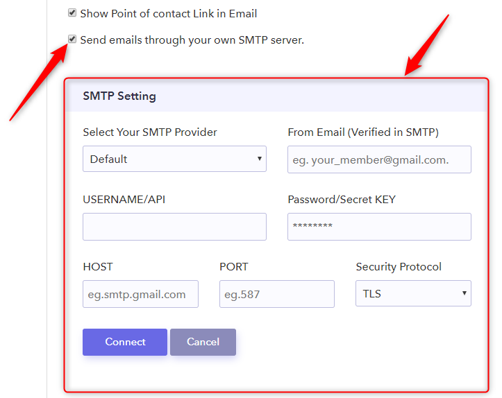 Tick The Checkbox Of The SMTP Server - Pabbly Form Builder