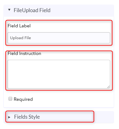 Customize Upload Field - Pabbly Form Builder