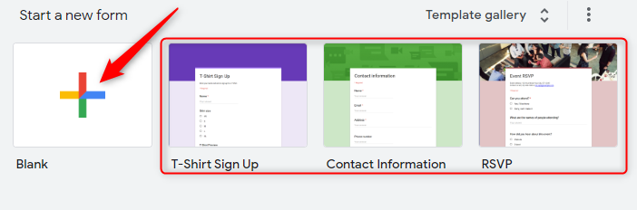 Create New Form - Google Forms