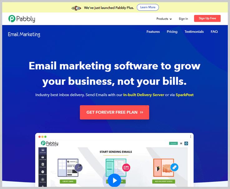 Pabbly Email Marketing - Alternatives to Amazon SES