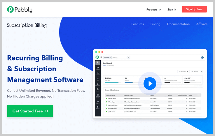 Pabbly Subscription Billing - Best Payment Tracking Software