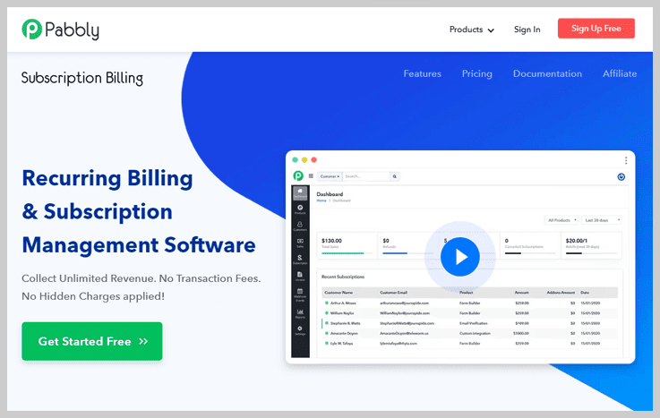 Pabbly Subscription Billing - Best SaaS Billing Software