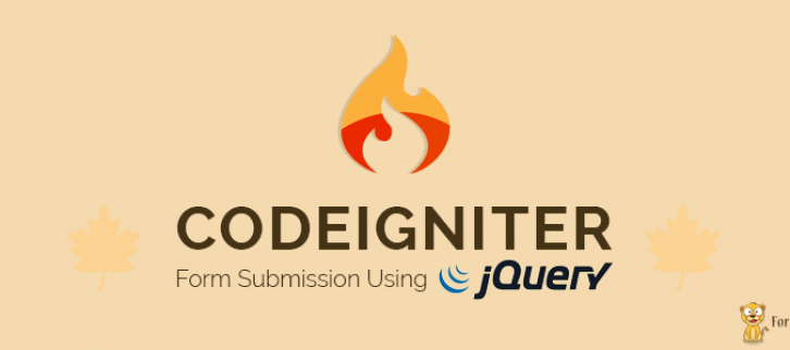 CodeIgniter Form Submission Using jQuery