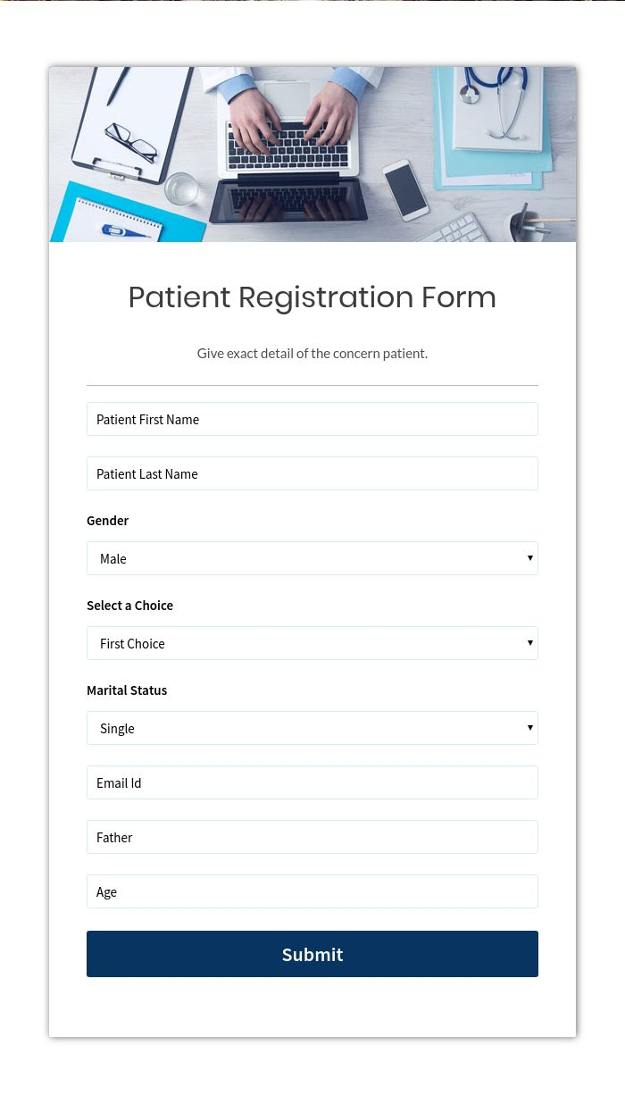 30+ Top Health Form Templates   Create Your Online Form Now   FormGet